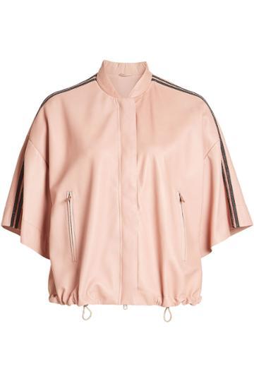 Brunello Cucinelli Brunello Cucinelli Embellished Leather Jacket