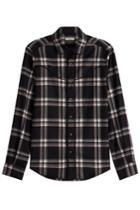 Valentino Valentino Virgin Wool Plaid Shirt