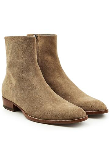 Saint Laurent Saint Laurent Wyatt Suede Ankle Boots