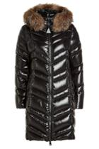 Moncler Moncler Fulmar Down Coat With Fur-trimmed Hood