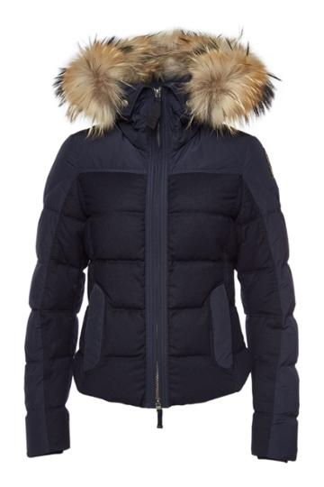 Parajumpers Parajumpers Koko Down Jacket With Virgin Wool And Fur