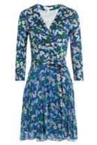 Diane Von Furstenberg Diane Von Furstenberg Printed Wrap Dress - Blue
