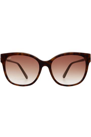 Tod's Tod's Square Tortoiseshell Sunglasses