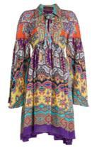 Etro Etro Printed Silk Mini Dress