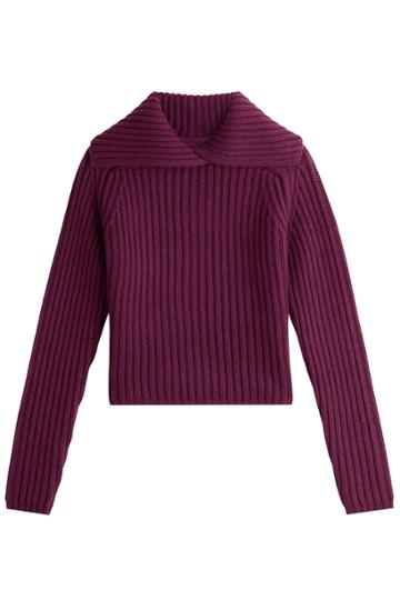 Carven Carven Wool Pullover - Purple