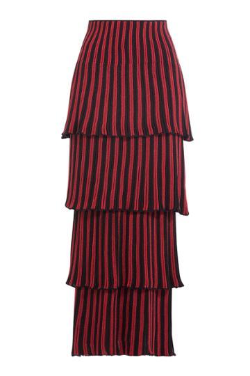 Sonia Rykiel Sonia Rykiel Tiered Skirt - Stripes