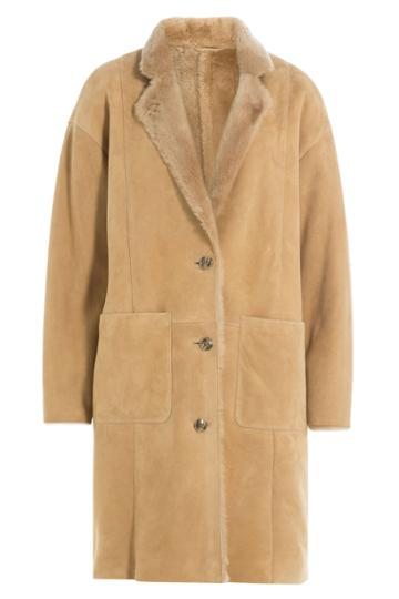 Closed Closed Shearling Coat - Camel