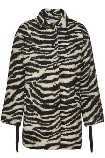 Iro Iro Bera Printed Coat With Mohair And Wool