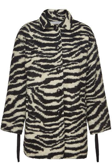 Iro Iro Bera Printed Coat With Mohair And Wool