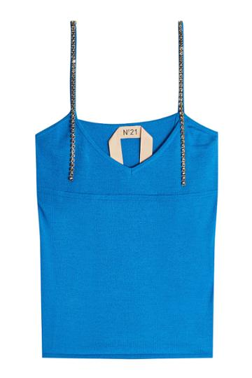 N 21 N°21 Knit Camisole With Embellished Straps