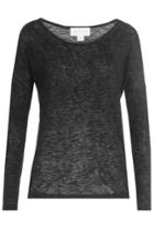 Velvet Velvet Sheer Long Sleeved Top - Black