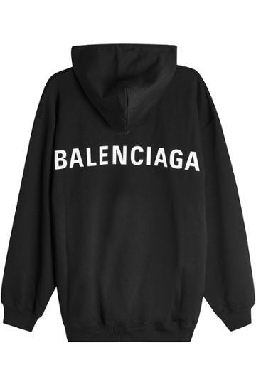 Balenciaga Balenciaga Logo Back Cotton Hoody