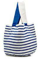 Sophie Anderson Sophie Anderson Striped Cotton Tote - Blue