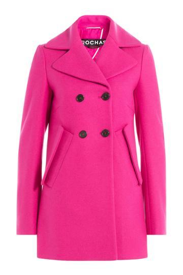 Rochas Rochas Wool Coat - Pink