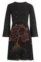 Valentino Valentino Cherry Tree Printed Silk Dress - Black