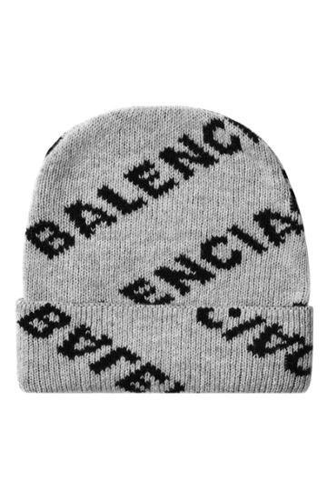 Balenciaga Balenciaga Logo Jacquard Hat In Virgin Wool