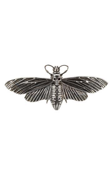Alexander Mcqueen Alexander Mcqueen Moth Pin - Silver