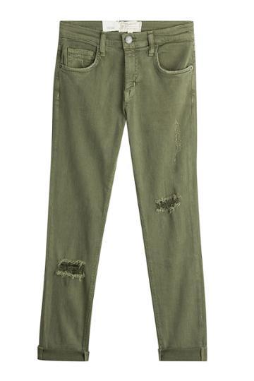 Current/elliott Current/elliott Distressed Jeans - Green