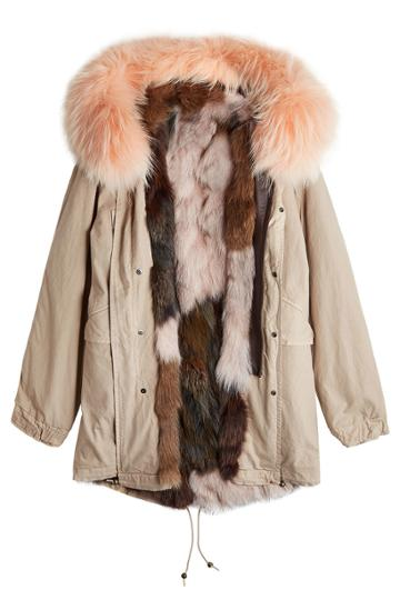 Mr & Mrs Italy Mr & Mrs Italy Cotton Parka Jacket With Fur-trimmed Hood And Lining
