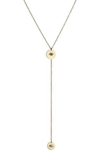 Delfina Delettrez Delfina Delettrez 18kt Yellow Gold Necklace With Emerald And Sapphire