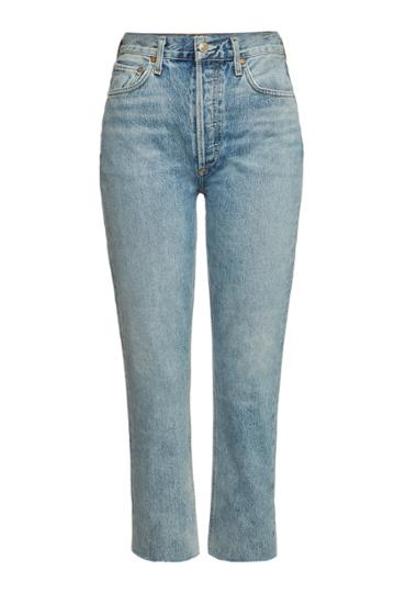 Agolde Agolde Riley Cropped Straight Leg Jeans