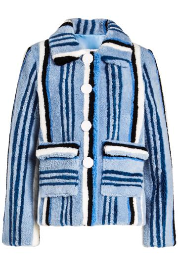 Saks Potts Saks Potts Lucy Blue Shearling Jacket