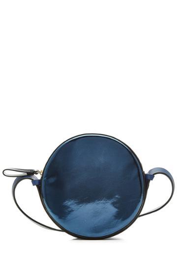 Diane Von Furstenberg Diane Von Furstenberg Metallic Leather Shoulder Bag