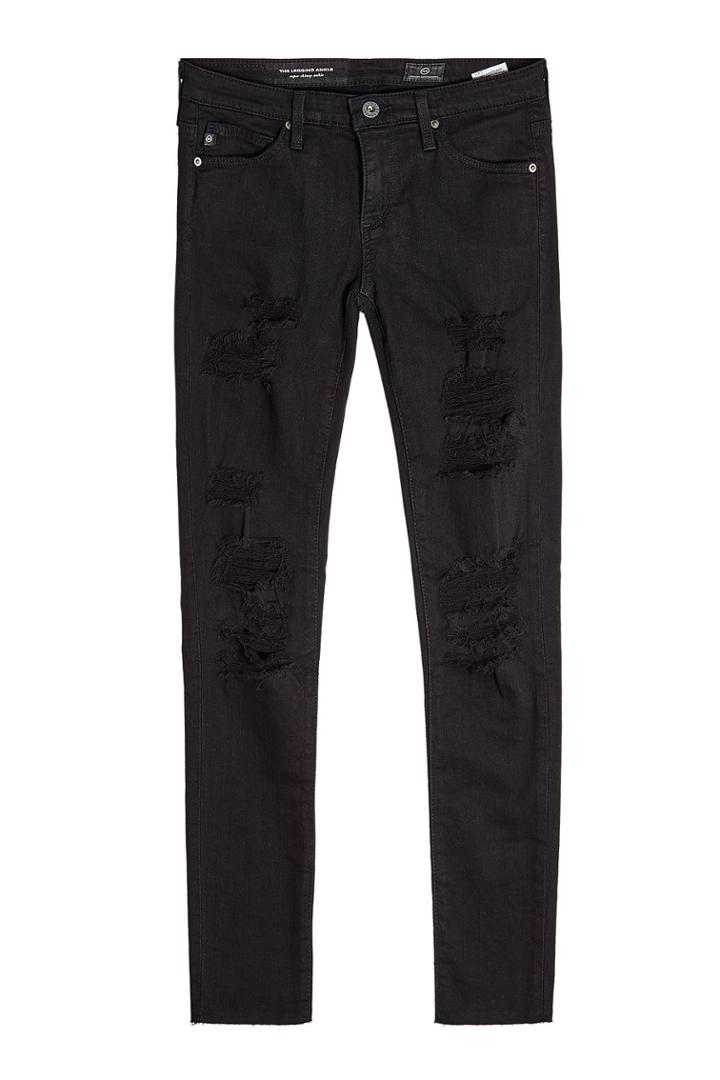 Adriano Goldschmied Adriano Goldschmied Distressed Skinny Jeans - Black