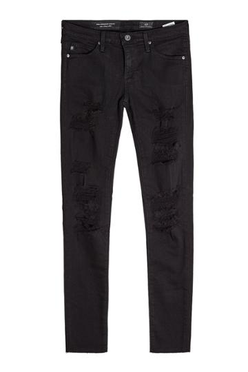 Adriano Goldschmied Adriano Goldschmied Distressed Skinny Jeans - Black