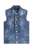 Dsquared2 Dsquared2 Distressed Denim Vest - Blue