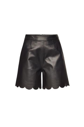 Red Valentino Red Valentino Leather Shorts