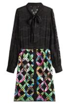 Anna Sui Anna Sui Dress With Silk - Black
