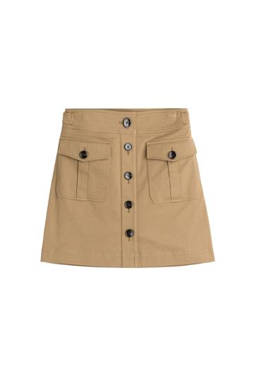Burberry Brit Burberry Brit Cotton Skirt - Camel