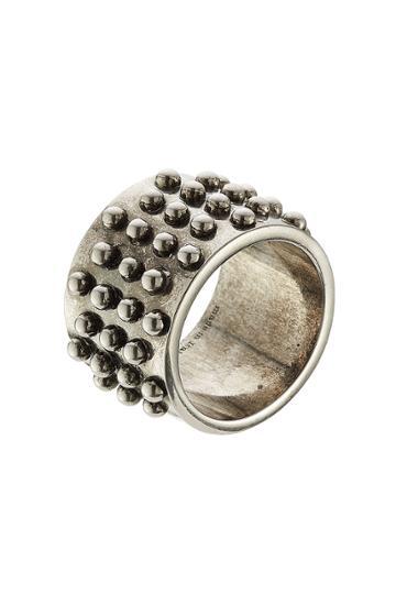Alexander Mcqueen Alexander Mcqueen Distressed Ring - Silver