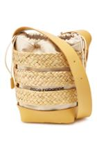 Paco Rabanne Paco Rabanne Leather And Cotton Cage Hobo Medium