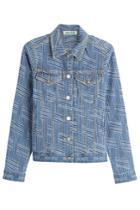 Kenzo Kenzo Printed Denim Jacket - Blue