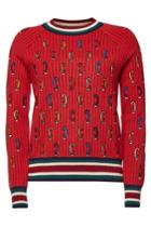 Carven Carven Embroidered Wool Pullover