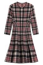 Alexander Mcqueen Alexander Mcqueen Tartan Wool Dress