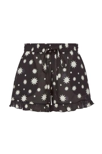 Red Valentino Red Valentino Printed Silk Shorts With Drawstring Waist