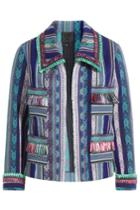 Anna Sui Anna Sui Serape Striped Jacket With Fringe - Multicolor