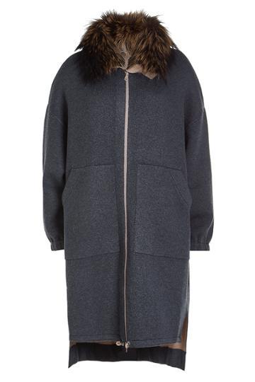 Brunello Cucinelli Brunello Cucinelli Cashmere Cardigan With Fox Fur