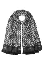 Missoni Missoni Patterned Knit Scarf With Fringe