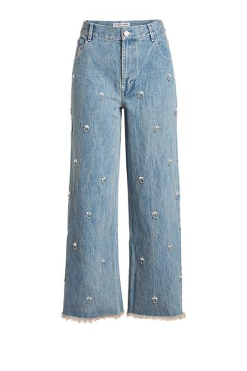 Sandy Liang Sandy Liang Ghost Embellished Jeans