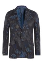 Etro Etro Cotton Jacquard Blazer - Blue
