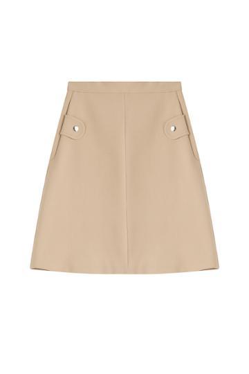 Carven Carven A-line Skirt - Beige