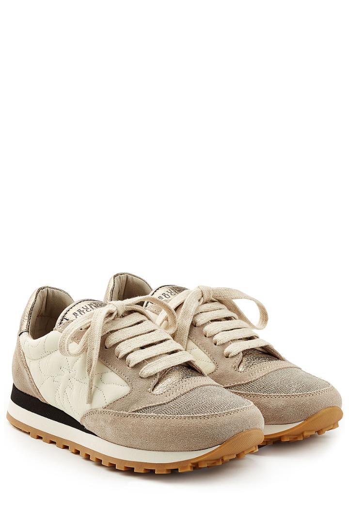 Brunello Cucinelli Brunello Cucinelli Suede And Fabric Sneakers - Beige
