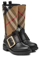 Burberry Burberry Boots With Check Printed Fabric