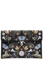 Alexander Mcqueen Alexander Mcqueen Printed Leather Clutch - Multicolor
