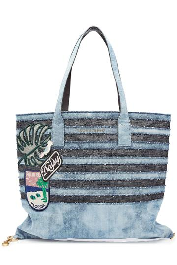 Marc Jacobs Marc Jacobs Denim And Sequin Tote