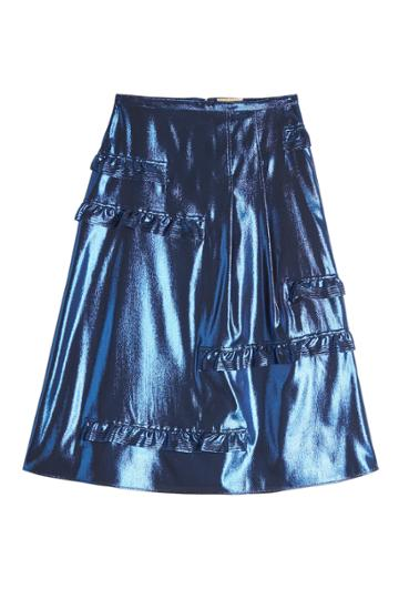 Burberry Burberry Silk Metallic Skirt